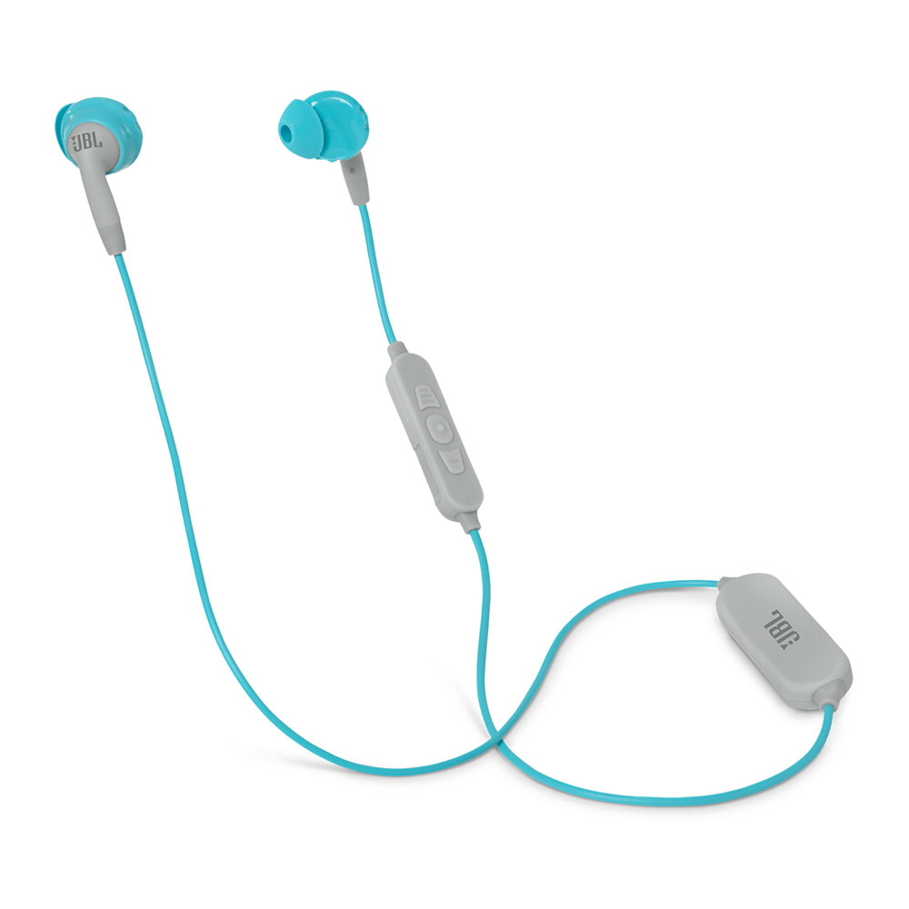JBL Inspire 500 Women In-Ear Wireless Sport Headphones Aqua/White (3-Button Remote + Sweat Proof + TwistLock + FlexSoft + Θήκη)