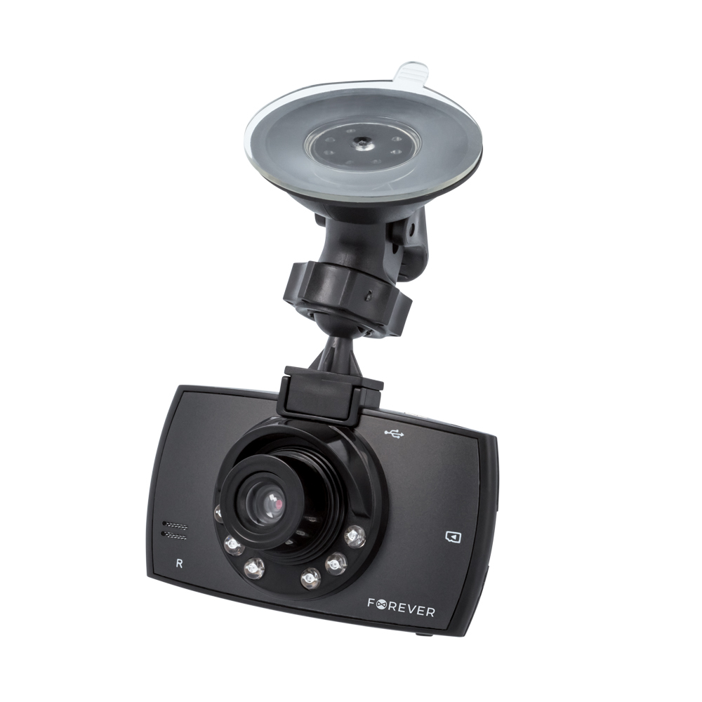 "Forever VR-200 DVR Camera Αυτοκινήτου με Full HD 1080p Recording + Οθόνη 2.4"" + Night Vision LED + Back Camera"