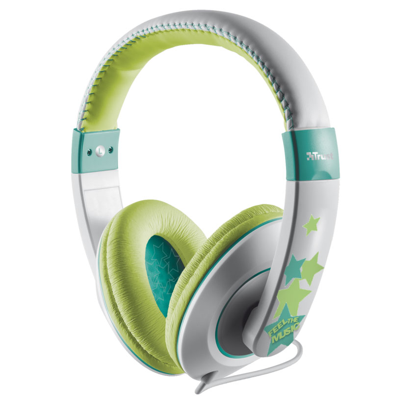 Trust 19558 Sonin Kid-Friendly Volume Limiting Headphones | Dress up Your Kids' Music!