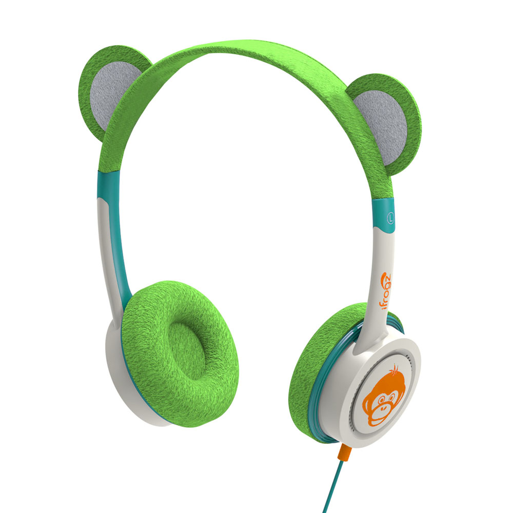 iFrogz by ZAGG Little Rockerz Costume Headphones Monkey: Kid-Friendly Volume Limiting Headphones | Dress up Your Kids' Music!