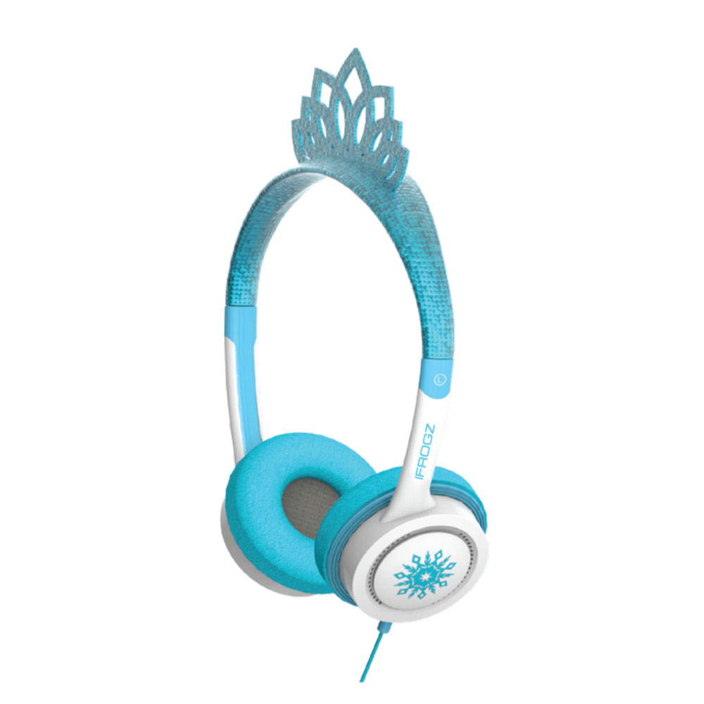 iFrogz by ZAGG Little Rockerz Costume Headphones Ice Princess Tiara: Kid-Friendly Volume Limiting Headphones