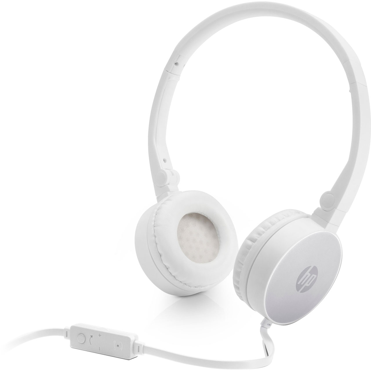 HP H2800 White w. Pike Silver On-Ear Stereo Headphones 2AP95AA (κλήσεις & μουσική με Remote + Volume Control)