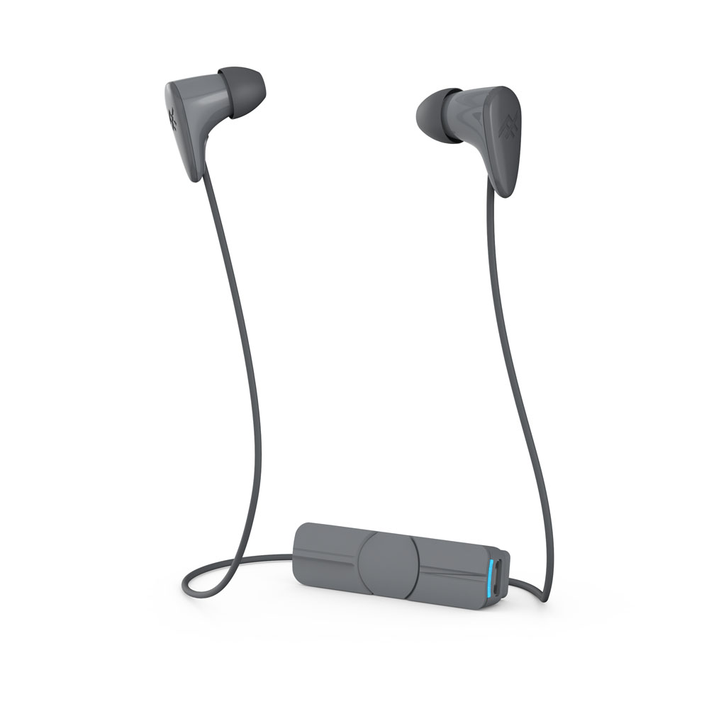 iFrogz Charisma Wireless Grey: Female-Inspired Bluetooth Earbuds + Sweat Resistant + Magnetic Clip