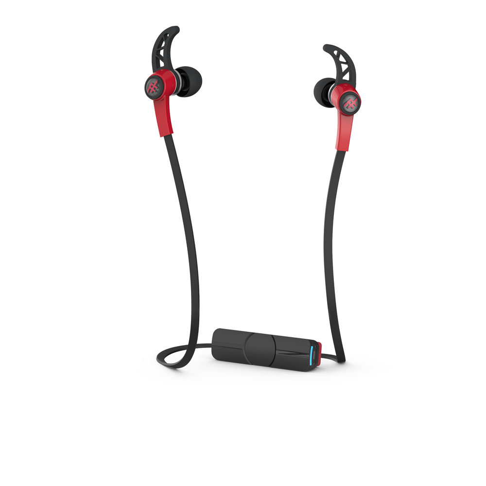 iFrogz Summit Wireless Red: Sport Performance Bluetooth Earbuds + Sweat Resistant + Secure Fit
