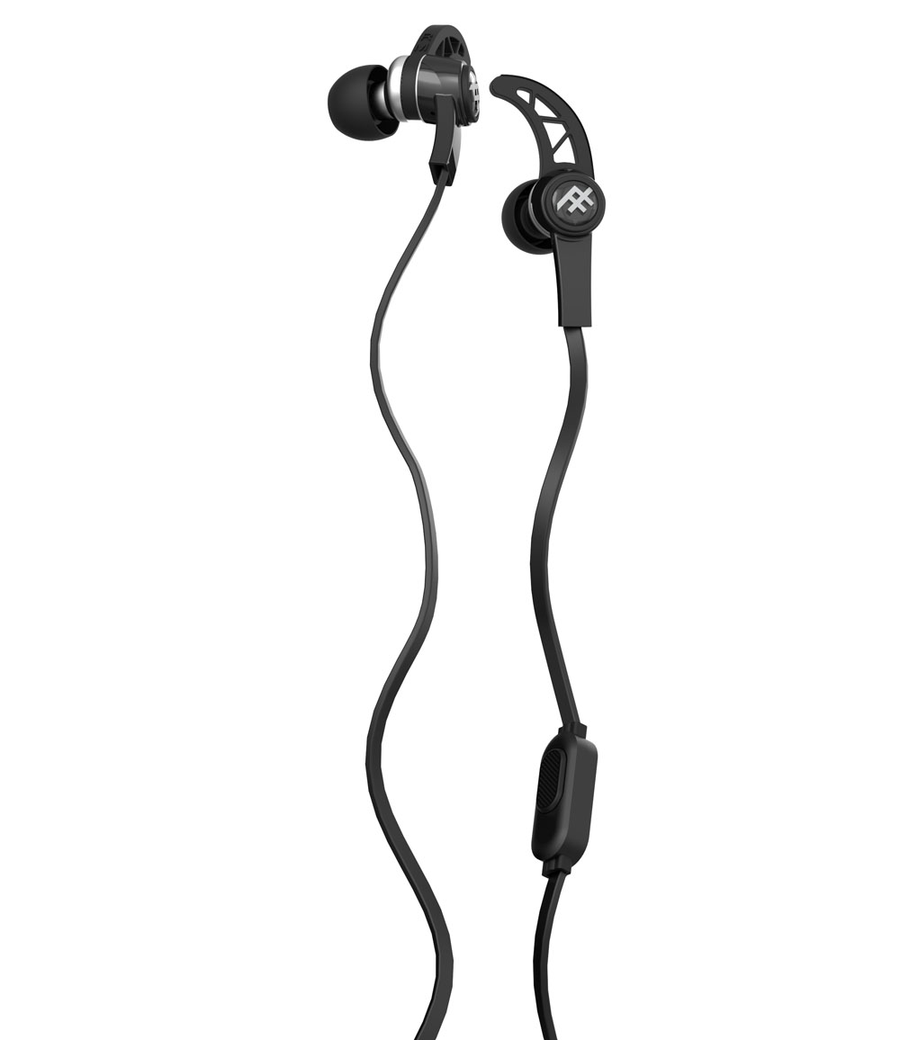 iFrogz Summit Black: Sport Performance Earbuds + Sweat Resistant + Secure Fit