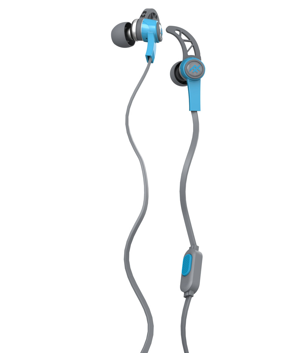 iFrogz Summit Blue: Sport Performance Earbuds + Sweat Resistant + Secure Fit