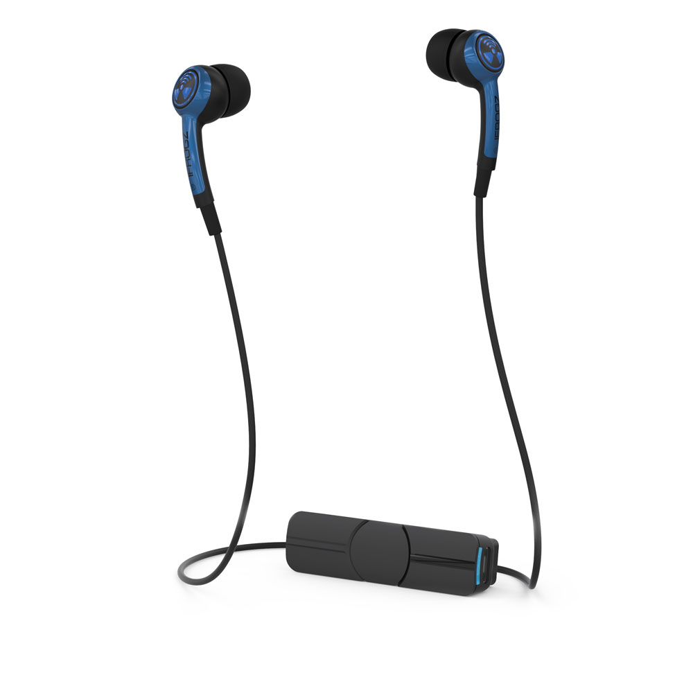 iFrogz Plugz Wireless Blue: Noise-Isolating Bluetooth Earbuds + Sweat Resistant