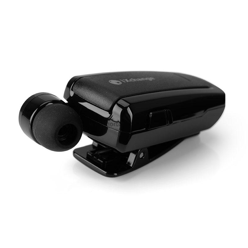 iXchange UA-25XB Black Mini Retractable Bluetooth Headset + Multipoint
