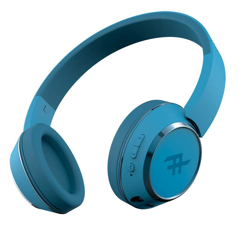 iFrogz Coda Wireless On-ear Headphones Blue + Dynamic Sound + 40mm Drivers + On-ear Controls