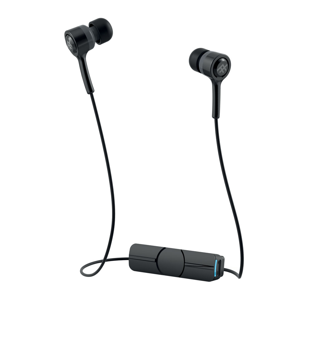 iFrogz Coda Wireless + Mic Black: In-Ear Bluetooth Earbuds + Sweat Resistant + Magnetic Clip