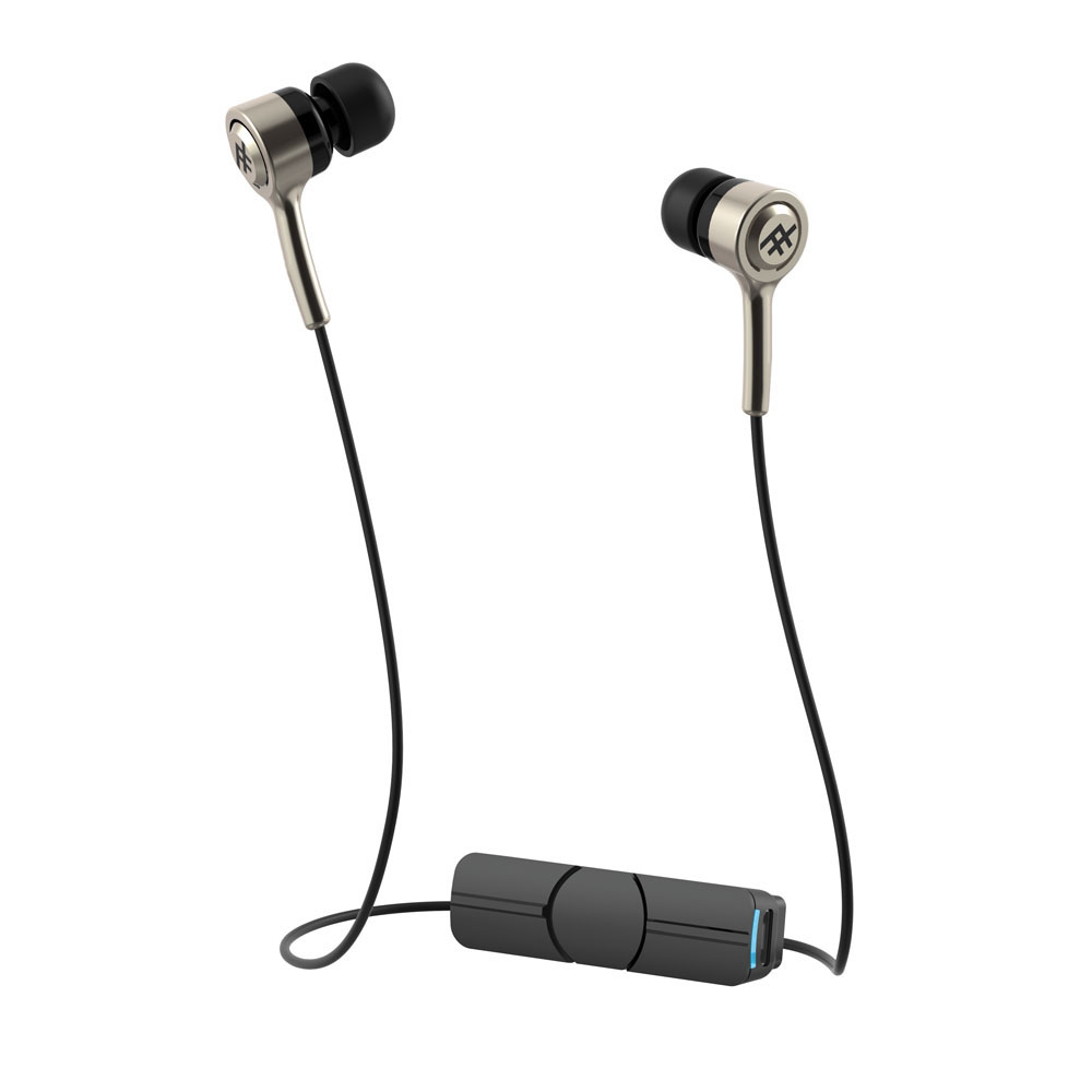 iFrogz Coda Wireless + Mic Gold: In-Ear Bluetooth Earbuds + Sweat Resistant + Magnetic Clip