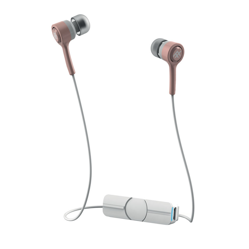 iFrogz Coda Wireless + Mic Rose Gold: In-Ear Bluetooth Earbuds + Sweat Resistant + Magnetic Clip
