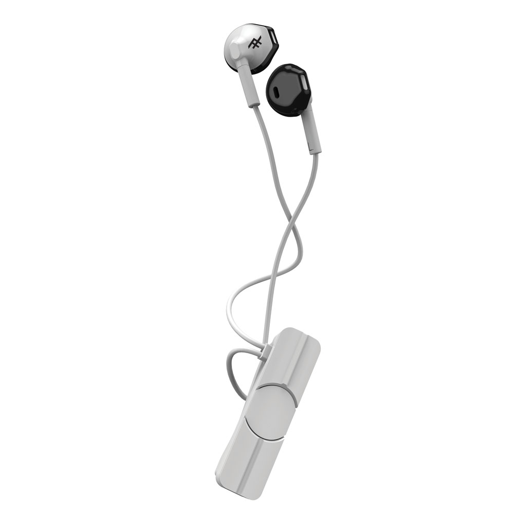 iFrogz InTone Wireless + Mic White: Ergonomic Bluetooth Earbuds + Sweat Resistant + Magnetic Clip
