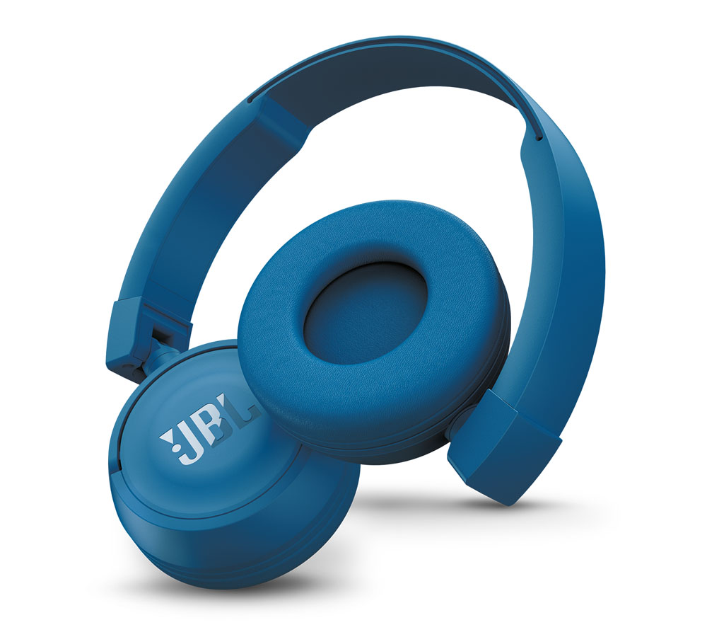 JBL T450BT Blue On-Ear Bluetooth Headphones + Pure Bass Sound + Mic/Remote (κλήσεις & μουσική χωρίς καλώδια!)