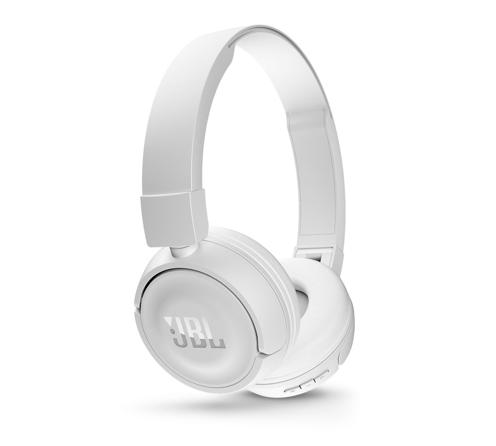 JBL T450BT White On-Ear Bluetooth Headphones + Pure Bass Sound + Mic/Remote (κλήσεις & μουσική χωρίς καλώδια!)