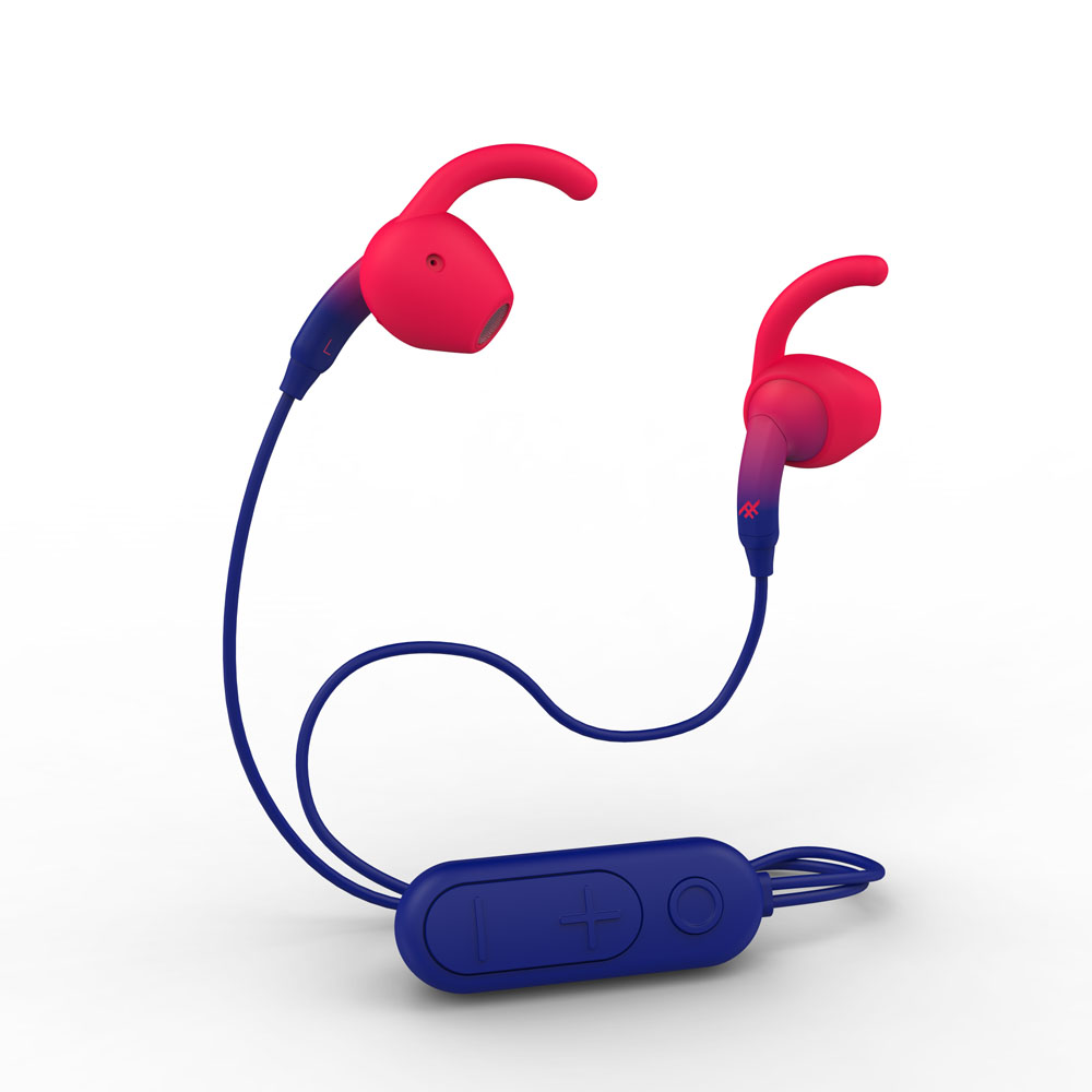 iFrogz Sound Hub Tone Wireless Earbuds 304001832 (Navy/Red) | Comfort Fit + Cable Management + Sweat Resistant