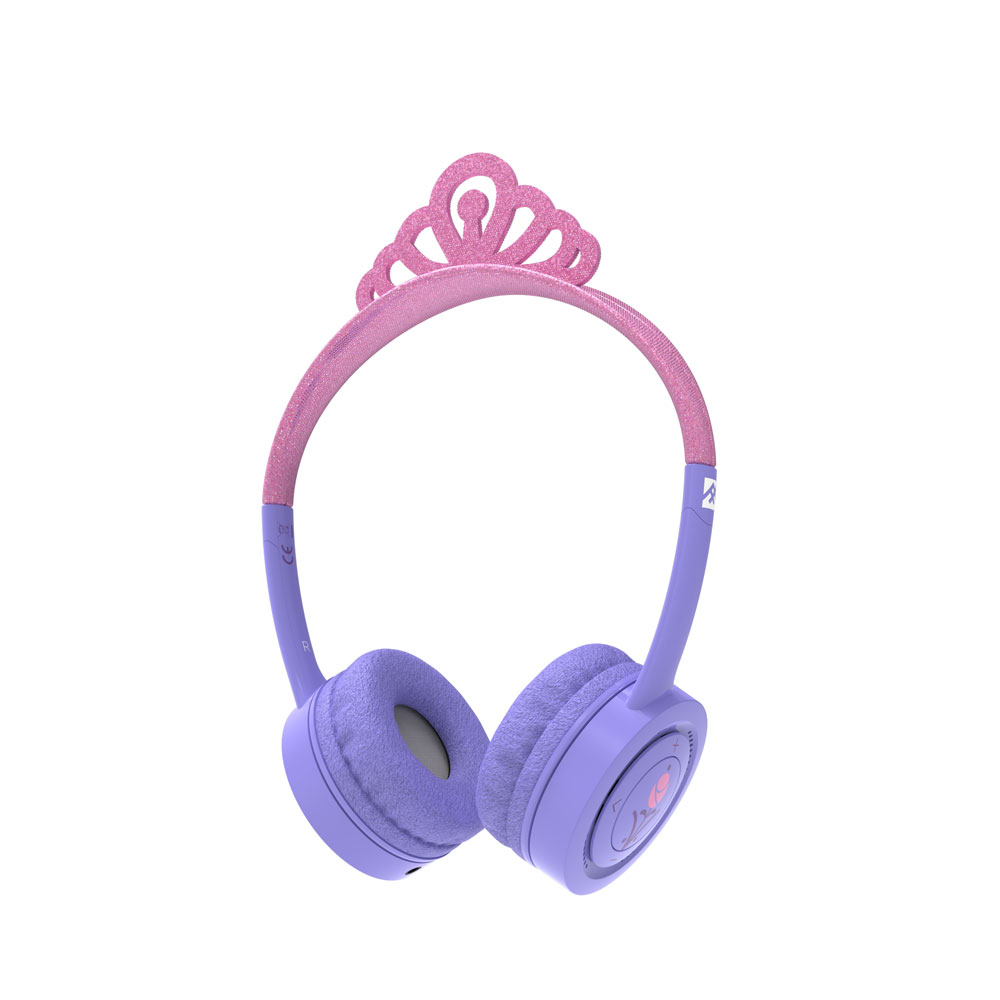 iFrogz by ZAGG Little Rockerz Costume Wireless Headphones Glitter Princess: Kid-Friendly Volume Limiting Headphones