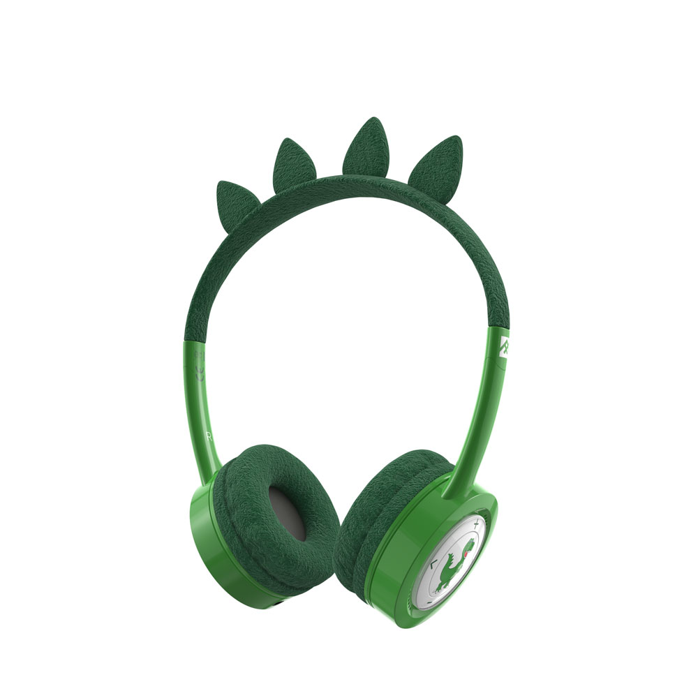 iFrogz by ZAGG Little Rockerz Costume Wireless Headphones T-Rex: Kid-Friendly Volume Limiting Headphones
