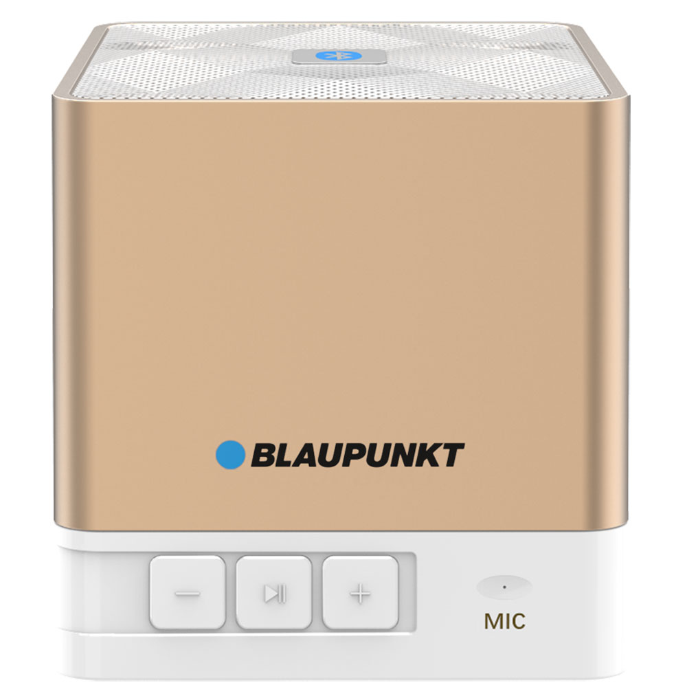 Blaupunkt BT02GOLD Gold Portable Bluetooth Speaker: Ασύρματο Ηχείο + Line-in + microSD + FM Radio + Speakerphone