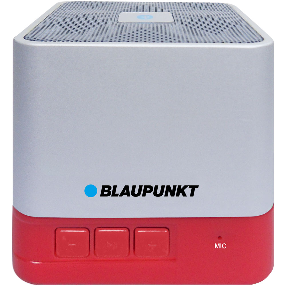 Blaupunkt BT02RD Red Portable Bluetooth Speaker: Ασύρματο Ηχείο + Line-in + microSD + FM Radio + Speakerphone