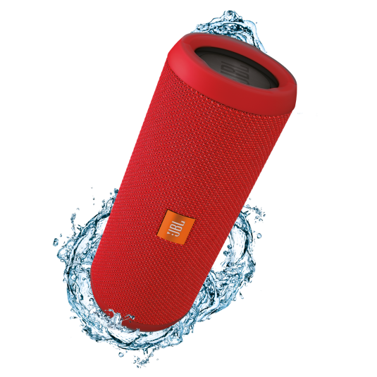 JBL Flip 3 Red Portable Bluetooth Speaker & Handsfree + Line-in (Ηχείο & Ανοιχτή συνομιλία για κλήσεις + Splashproof)