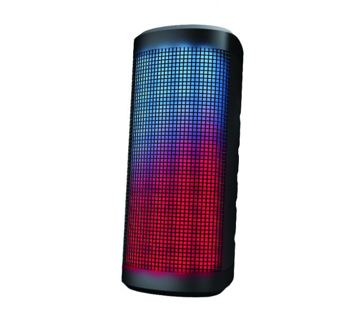 Lenco BT-180 Bluetooth Speaker with Party Lights: Ασύρματο Ηχείο & Φωτορυθμικό με LED + Line-in + microSD + Speakerphone