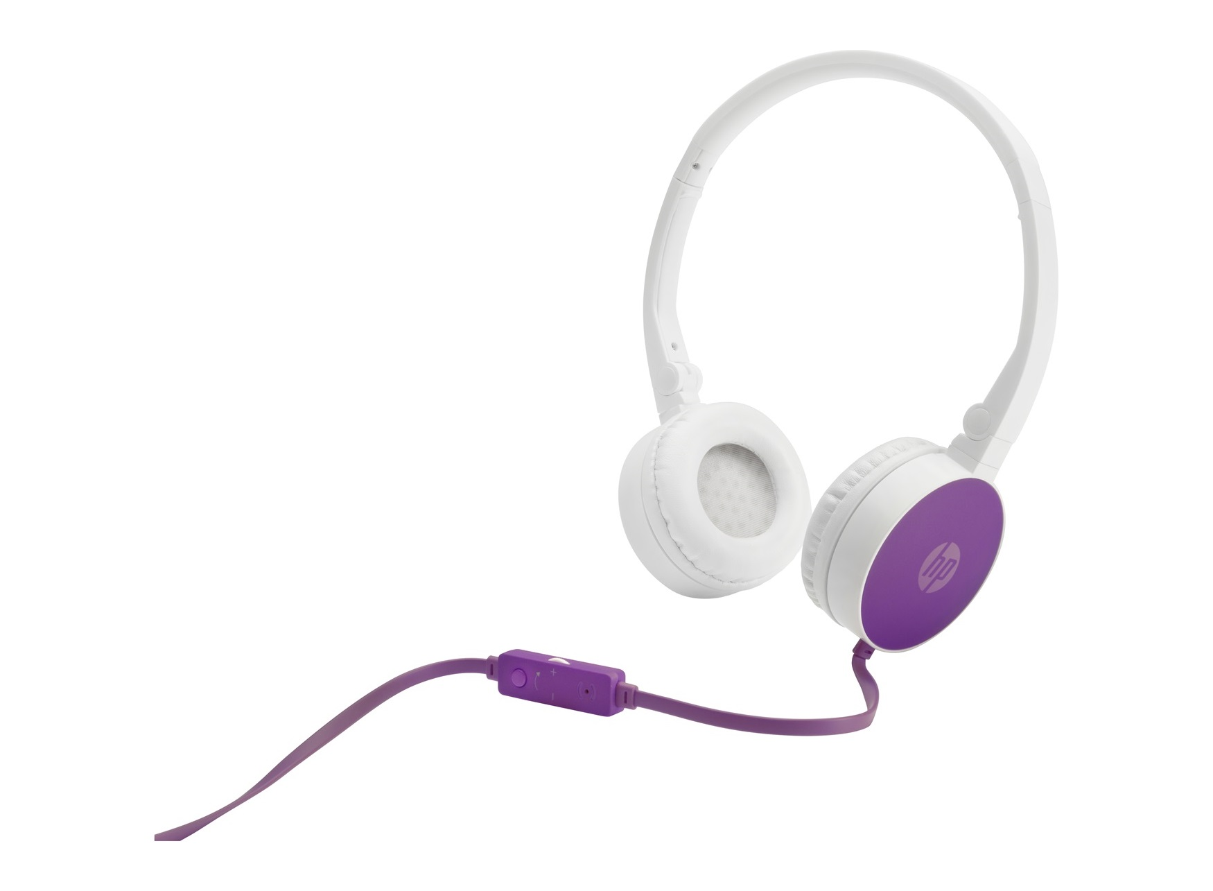 HP H2800 Purple On-Ear Stereo Headphones F6J06AA (κλήσεις & μουσική με Remote + Volume Control)