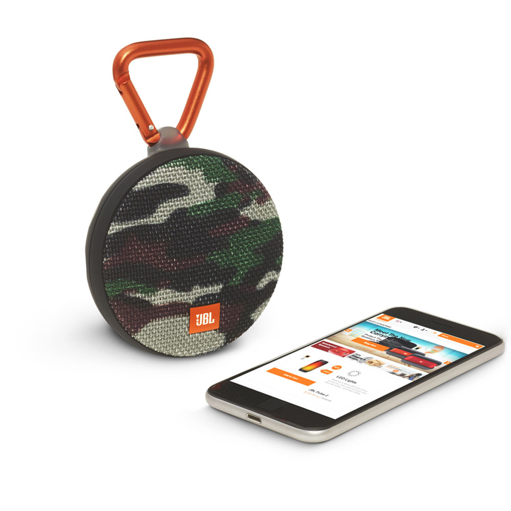 JBL Clip 2 Squad Waterproof IPX7 Ultra Portable Bluetooth Speaker & Handsfree (Ηχείο & Ανοιχτή συνομιλία + Γάντζος)