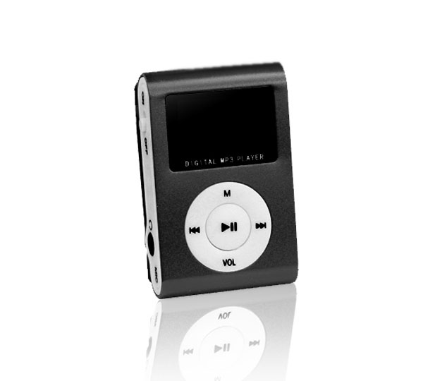 Setty (Μαύρο) Mini Fashion Clip MP3 Player & microSD Slot + LCD + FM Radio + Earphones