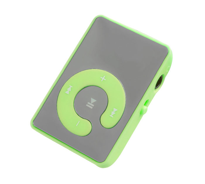 Setty Mi13 Green Mini Fashion Clip Mirror MP3 Player & microSD Slot + Ακουστικά