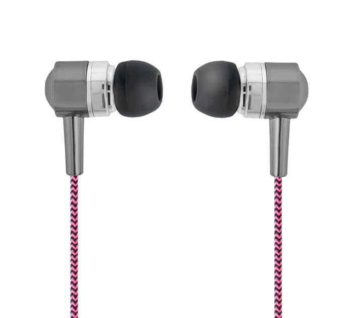 Forever SE-120 Pink/Black In-Ear Headset & Hands-Free (κλήσεις & μουσική με Tangle-Free καλώδιο)