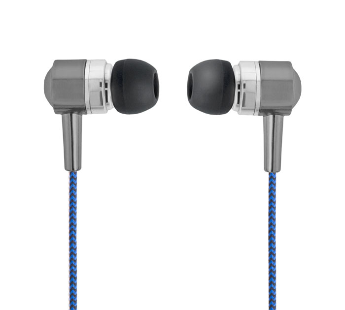 Forever SE-120 Blue/Black In-Ear Headset & Hands-Free (κλήσεις & μουσική με Tangle-Free καλώδιο)