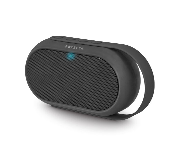 Forever BS-410 Black on Black Bluetooth Speaker + Speakerphone + microSD Slot + USB Stick + Line-in + FM Radio