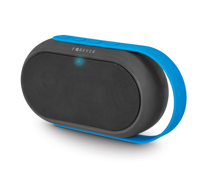 Forever BS-410 Blue on Black Bluetooth Speaker + Speakerphone + microSD Slot + USB Stick + Line-in + FM Radio