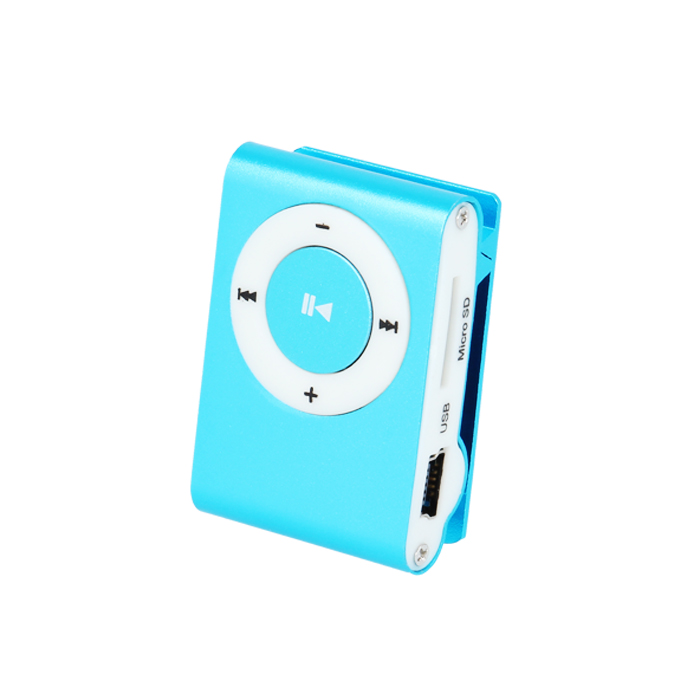 Setty Mi14 Blue Mini Fashion Clip Metal MP3 Player & microSD Slot + Στερεοφωνικά Ακουστικά
