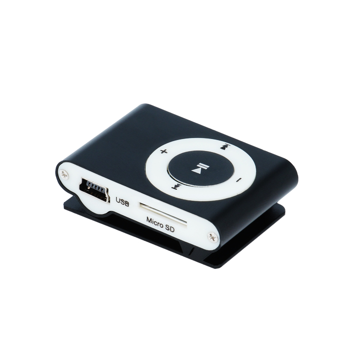 Setty Mi14 Black Mini Fashion Clip Metal MP3 Player & microSD Slot + Στερεοφωνικά Ακουστικά