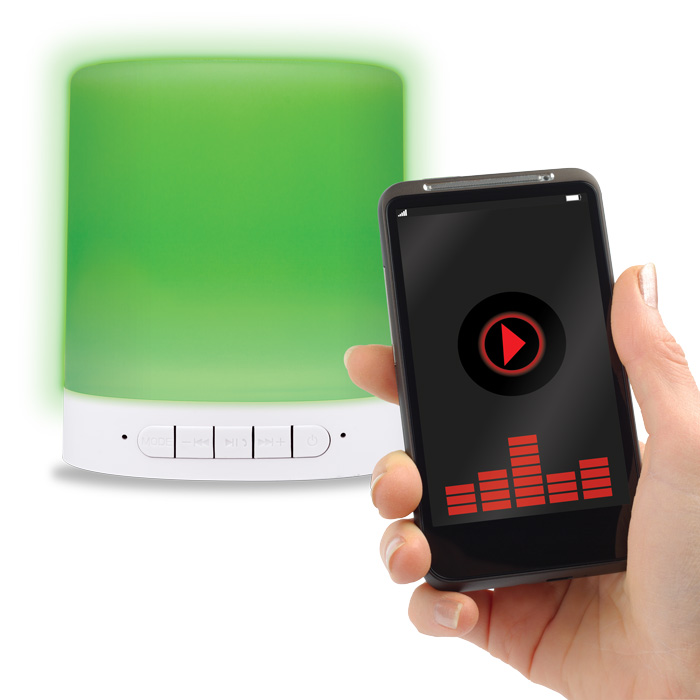 Forever BS-700s LED Lamp & Speaker: Bluetooth Speaker & Handsfree + Line-In + microSD + LED Lamp & Light Show + Touch Control