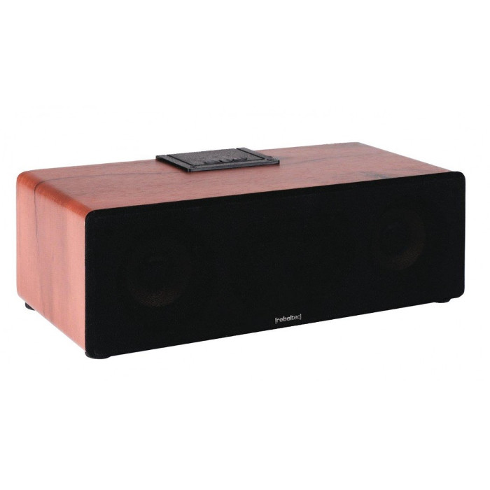 Rebeltec Ambient 100% Wooden Case Speaker: Bluetooth + Line-in + microSD + USB + FM Radio + Bass Speaker
