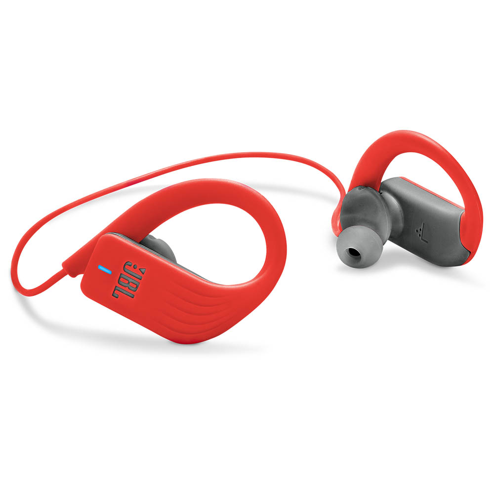 JBL Endurance SPRINT Red | Waterproof Wireless In-Ear Sport Headphones (TwistLock + FlexSoft + MagHook)