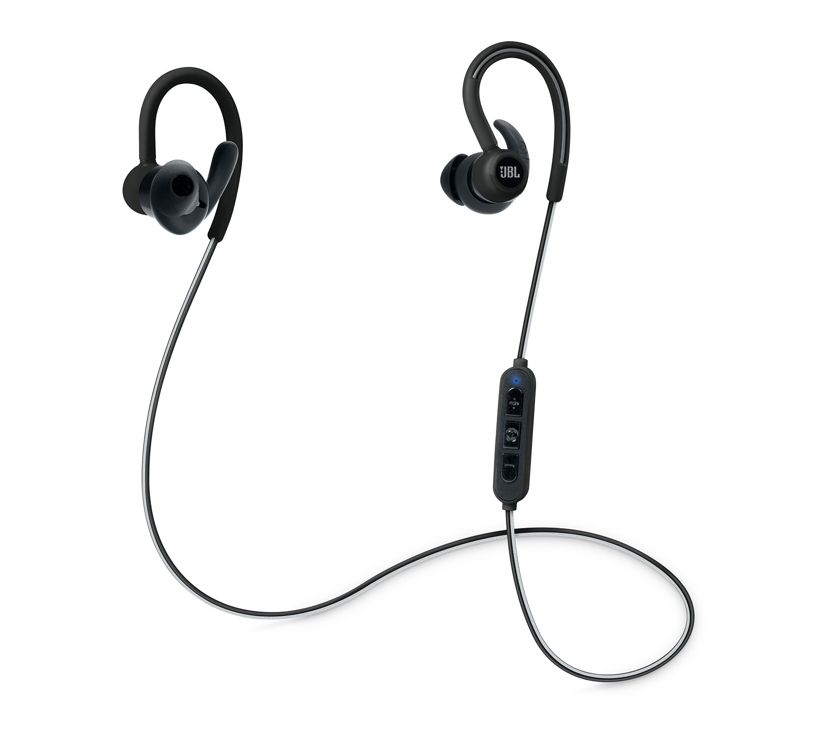 JBL Reflect Contour Black: Secure Fit & Sweat Proof Wireless Sport Headphones + JBL Signature Sound