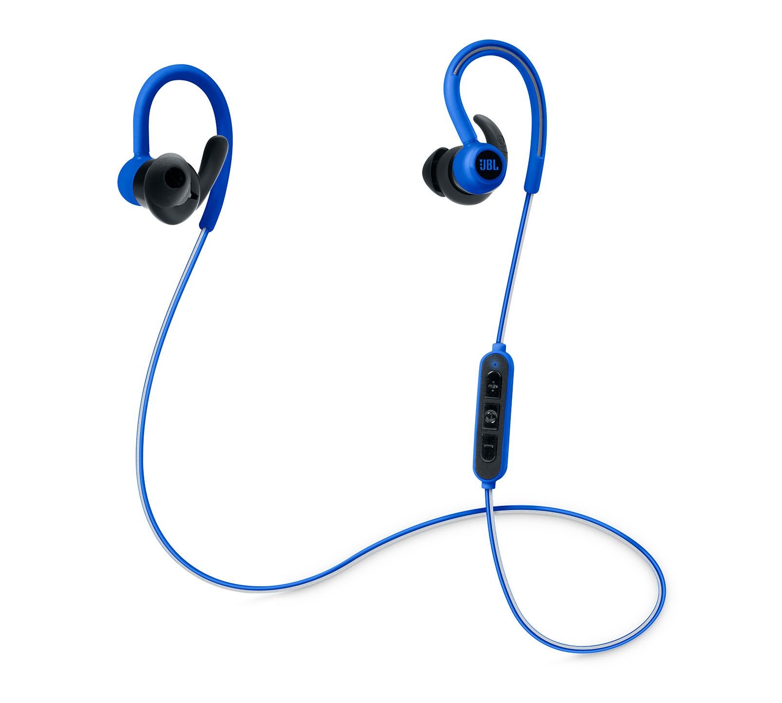 JBL Reflect Contour Blue: Secure Fit & Sweat Proof Wireless Sport Headphones + JBL Signature Sound