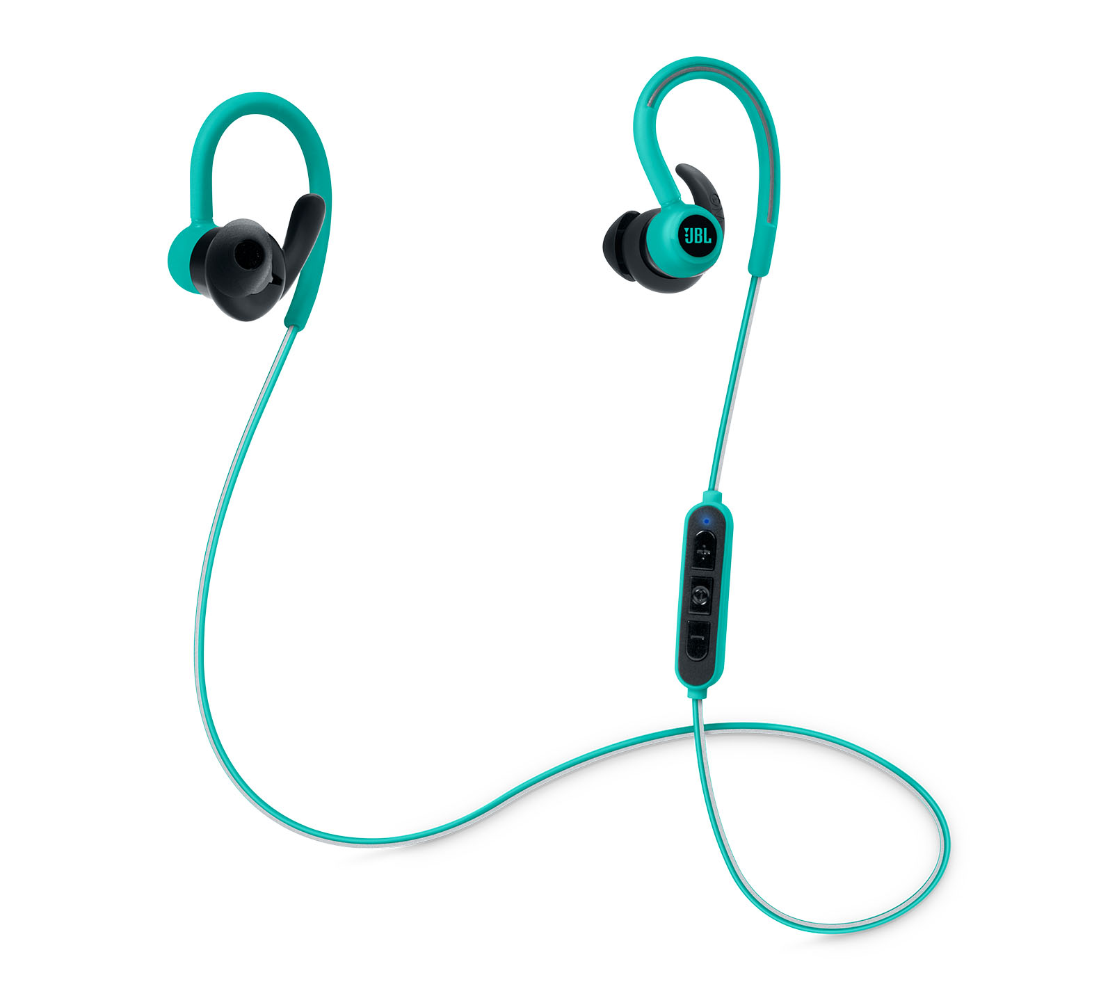 JBL Reflect Contour Teal: Secure Fit & Sweat Proof Wireless Sport Headphones + JBL Signature Sound