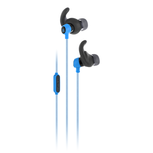 JBL Reflect Mini Blue: In-ear Sport Headphones  (Android/iOS/Universal, κλήσεις & μουσική με Flat καλώδιο)