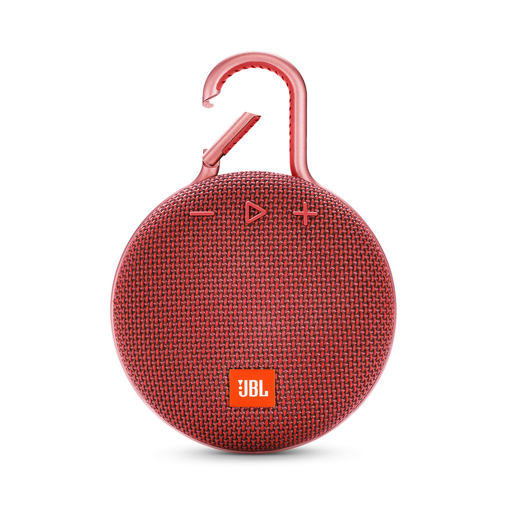 JBL Clip 3 Fiesta Red Waterproof IPX7 Ultra Portable Bluetooth Speaker & Handsfree (Ηχείο & Ανοιχτή συνομιλία + Γάντζος)