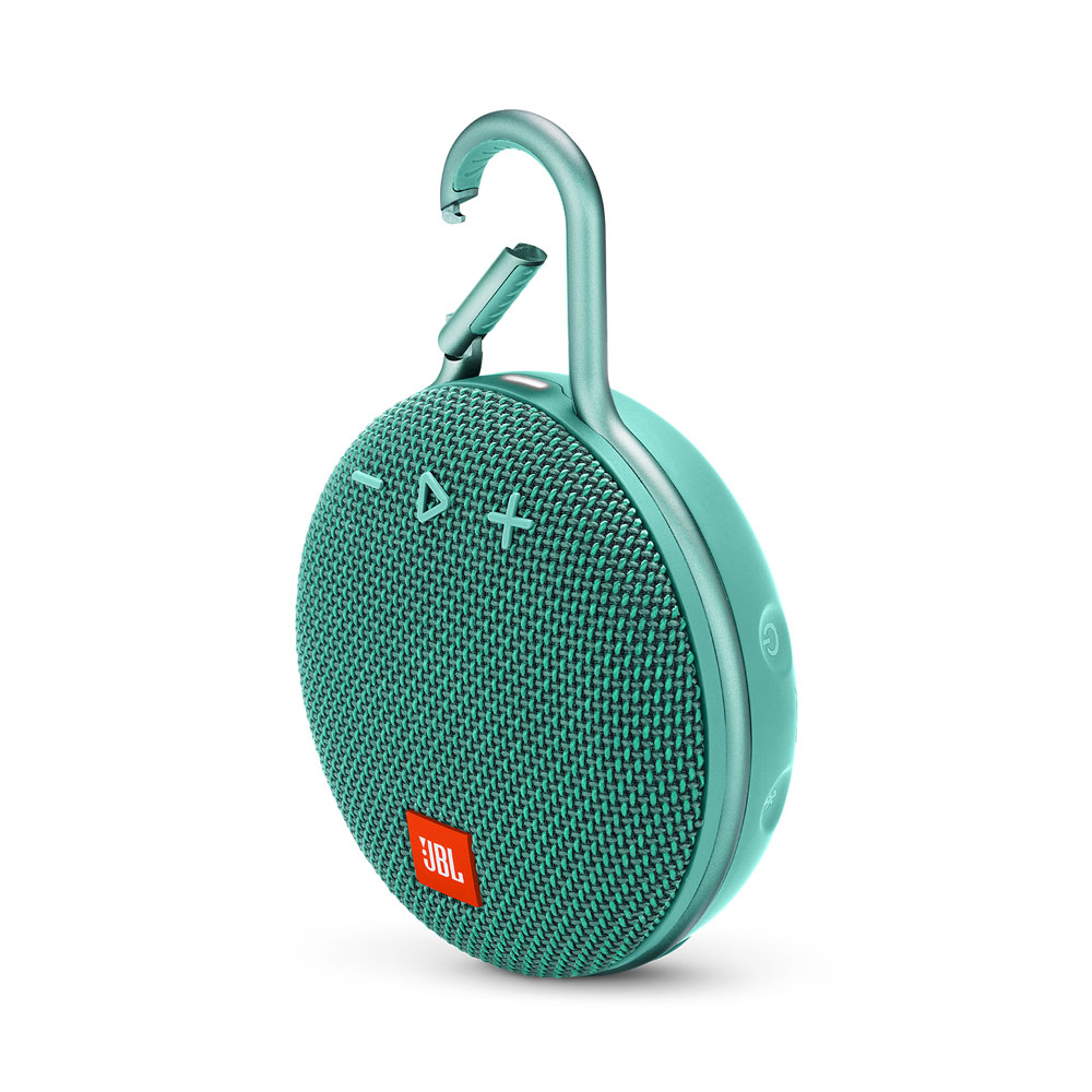 JBL Clip 3 River Teal Waterproof IPX7 Ultra Portable Bluetooth Speaker & Handsfree (Ηχείο & Ανοιχτή συνομιλία + Γάντζος)