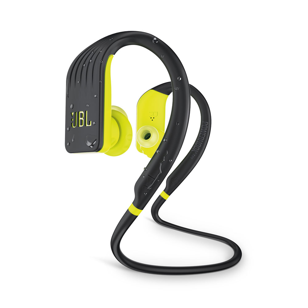 JBL Endurance JUMP Yellow | Waterproof Wireless In-Ear Sport Headphones (TwistLock + FlexSoft + PowerHook)