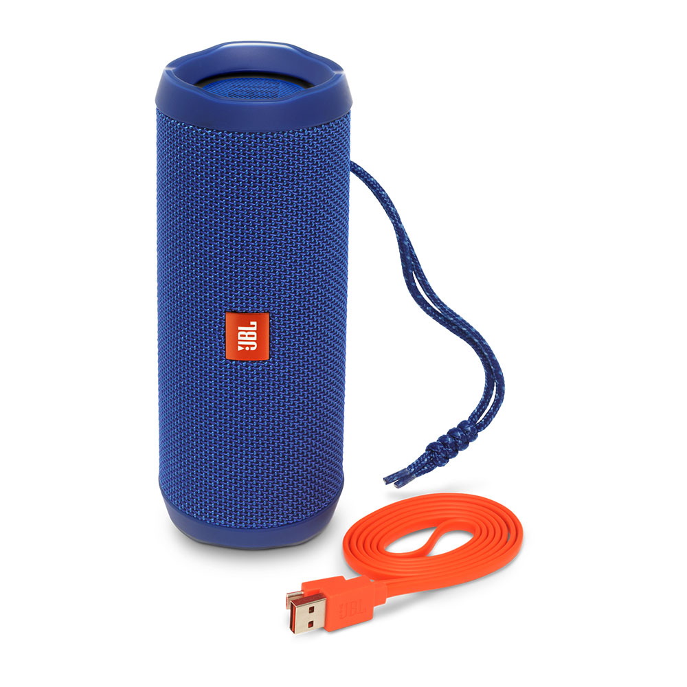 JBL Flip 4 Blue Portable Bluetooth Speaker & Handsfree + Line-in (Ηχείο & Ανοιχτή συνομιλία για κλήσεις + IPX7 Waterproof)