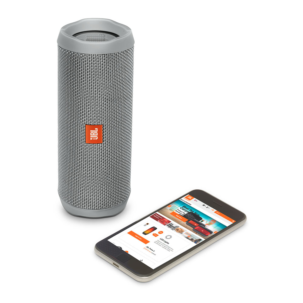 JBL Flip 4 Gray Portable Bluetooth Speaker & Handsfree + Line-in (Ηχείο & Ανοιχτή συνομιλία για κλήσεις + IPX7 Waterproof)