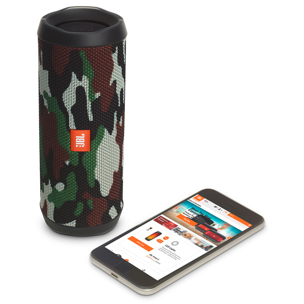 JBL Flip 4 Squad Portable Bluetooth Speaker & Handsfree + Line-in (Ηχείο & Ανοιχτή συνομιλία για κλήσεις + IPX7 Waterproof)