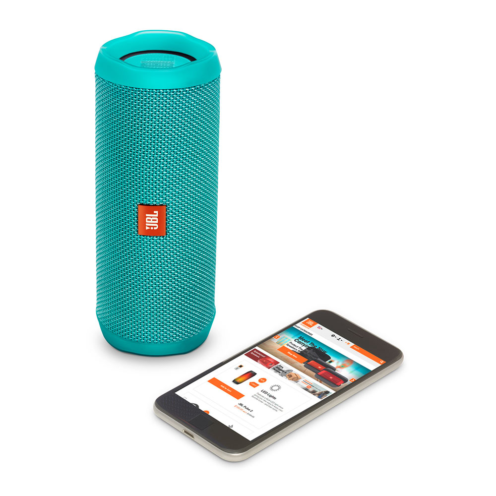 JBL Flip 4 Teal Portable Bluetooth Speaker & Handsfree + Line-in (Ηχείο & Ανοιχτή συνομιλία για κλήσεις + IPX7 Waterproof)